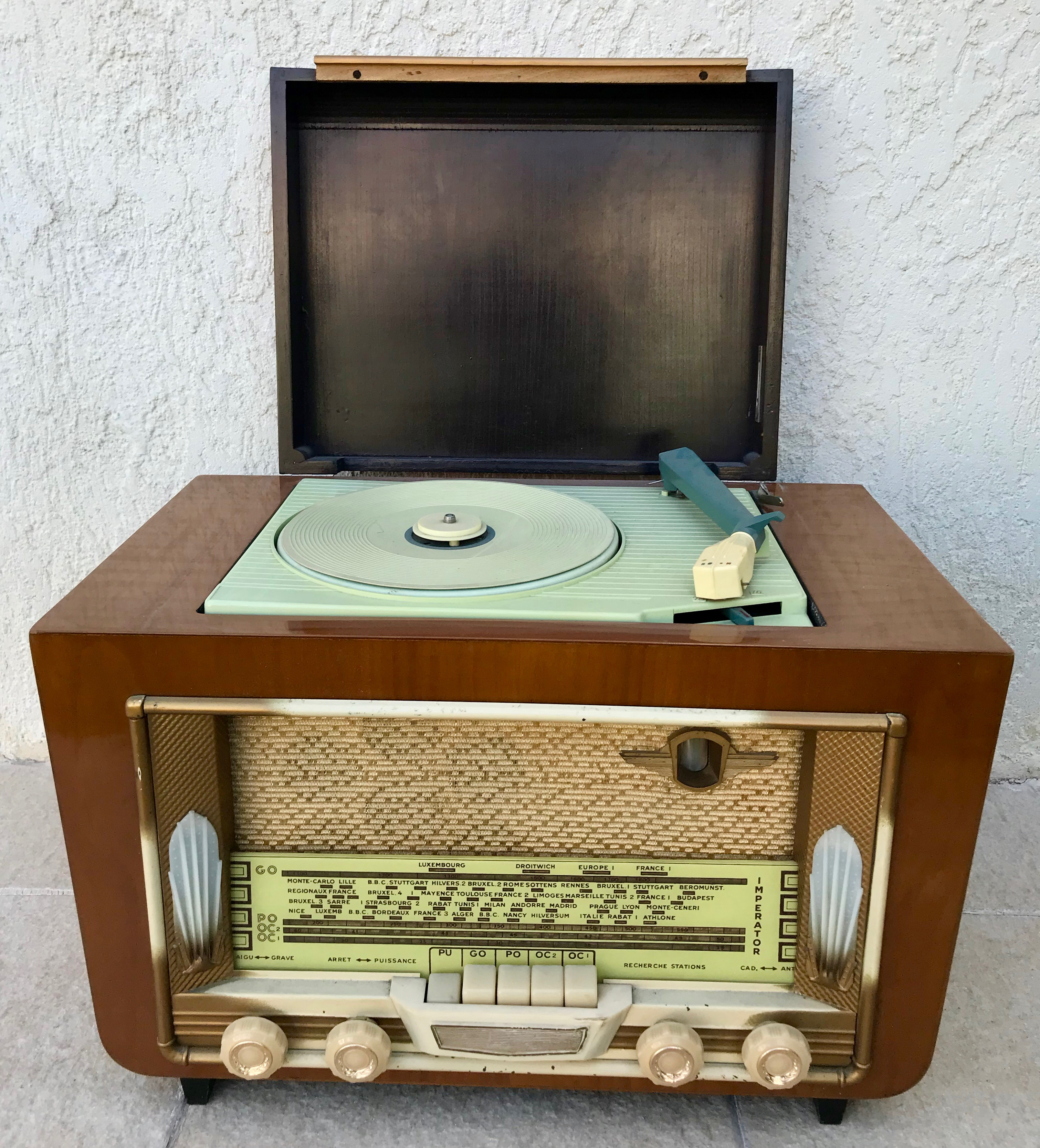 Poste radio TSF tourne disque Impérator