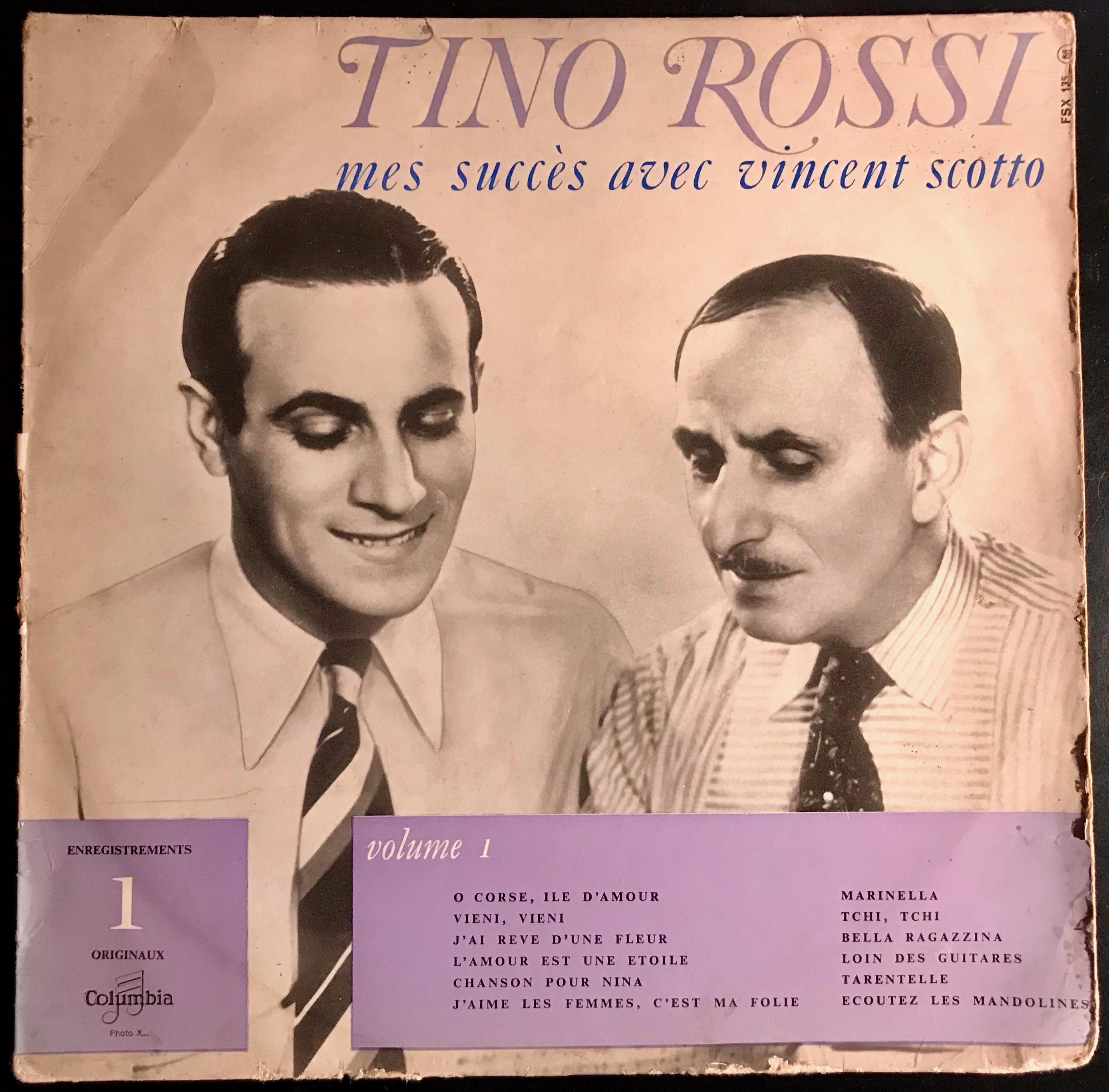 Disque vinyle Tino Rossi