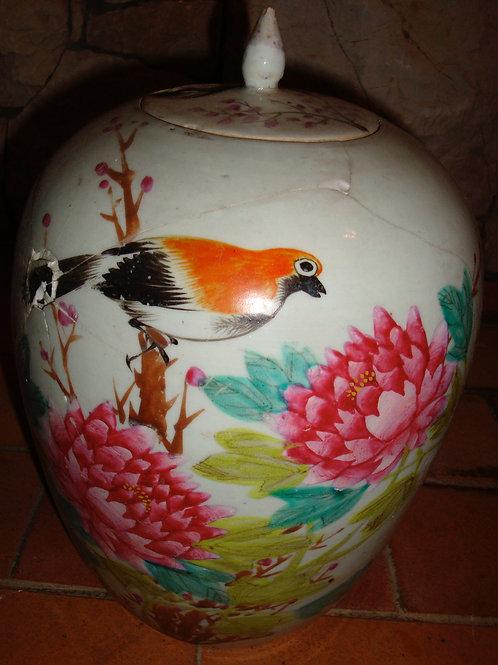 Vase faïence chinoise du 19eme