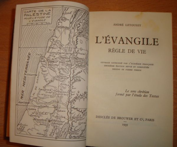 Livre ancien Evangile