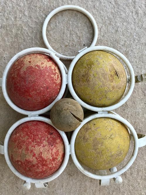 jeu de boules en bois