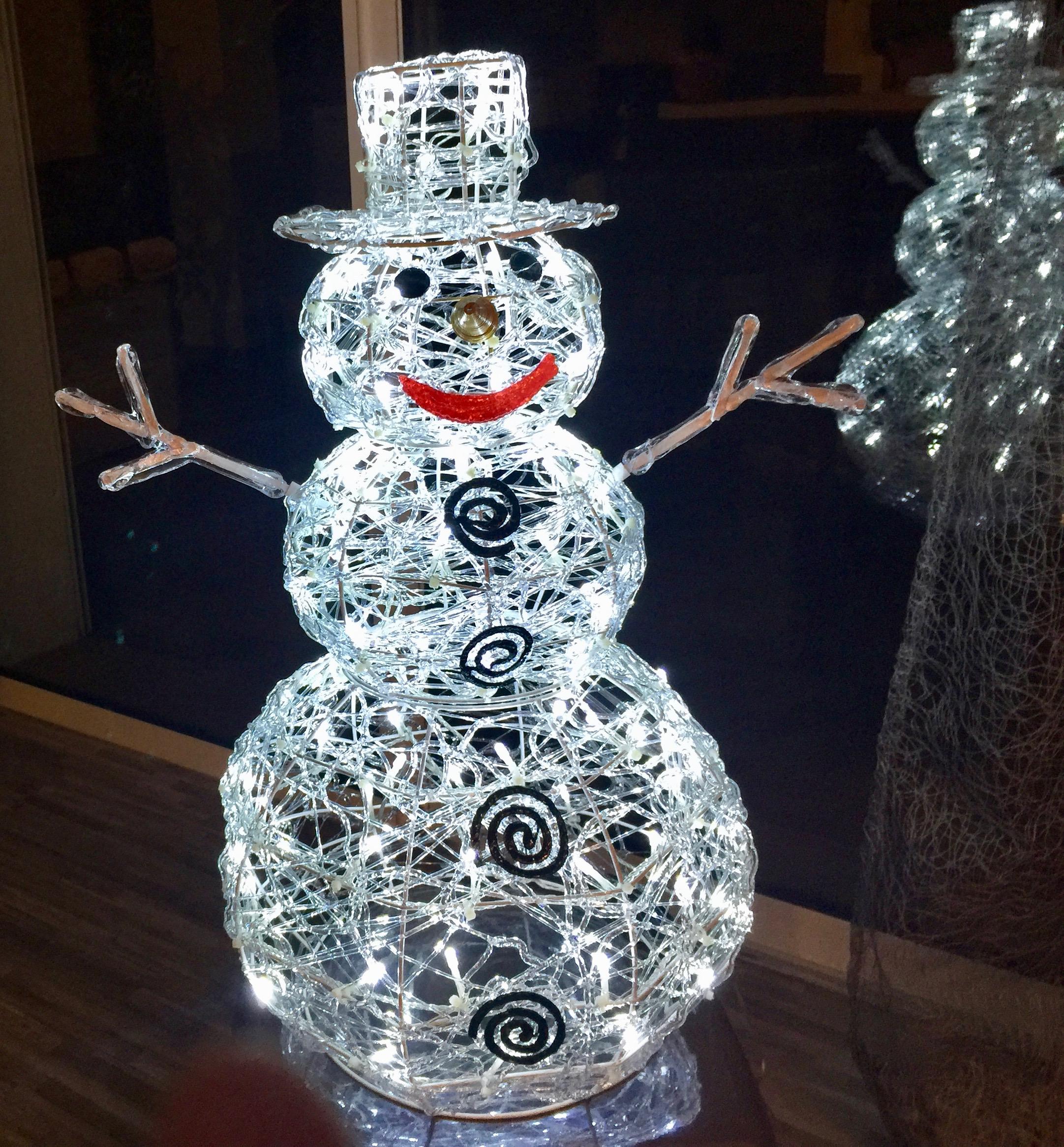 Lampe bonhomme de neige