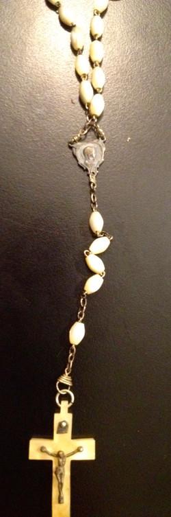 Chapelet perles nacrés