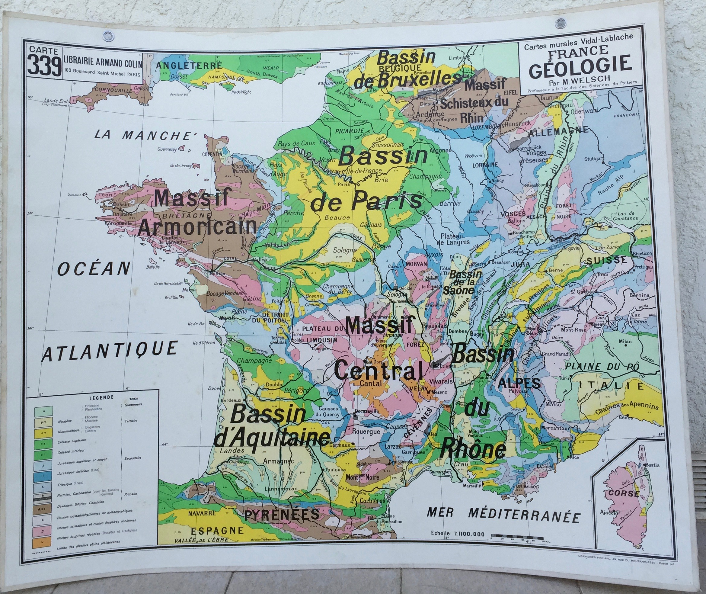 Carte de france géologie
