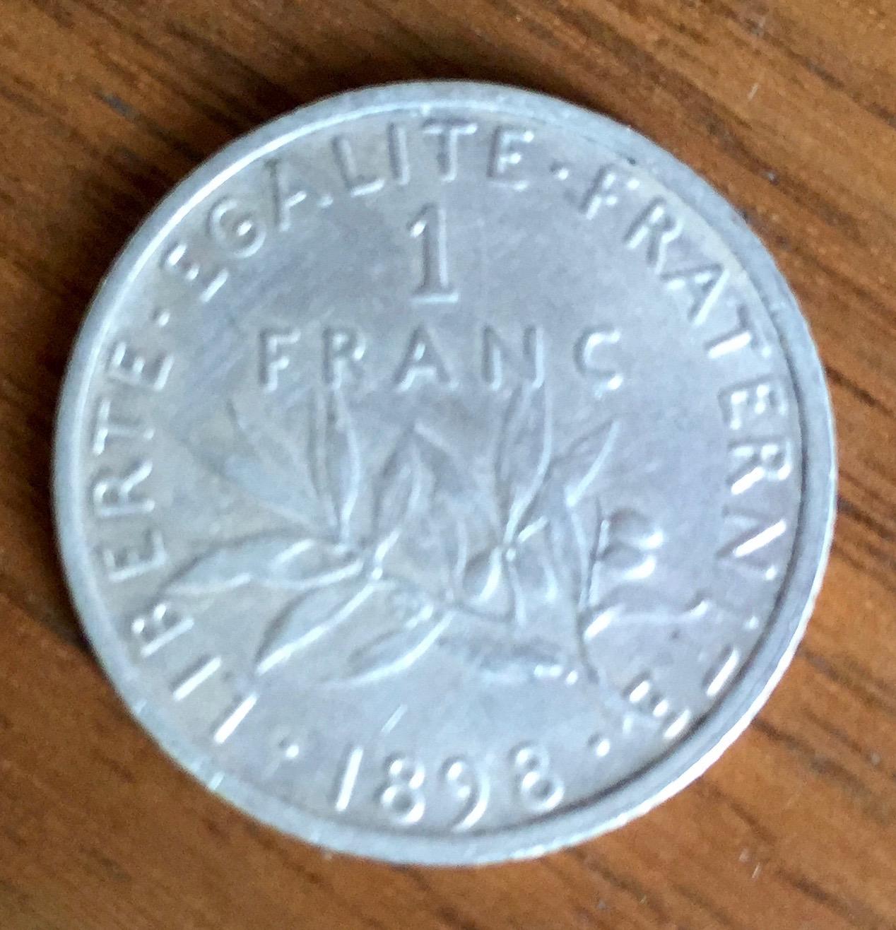 Pièce de 1 Franc 1898
