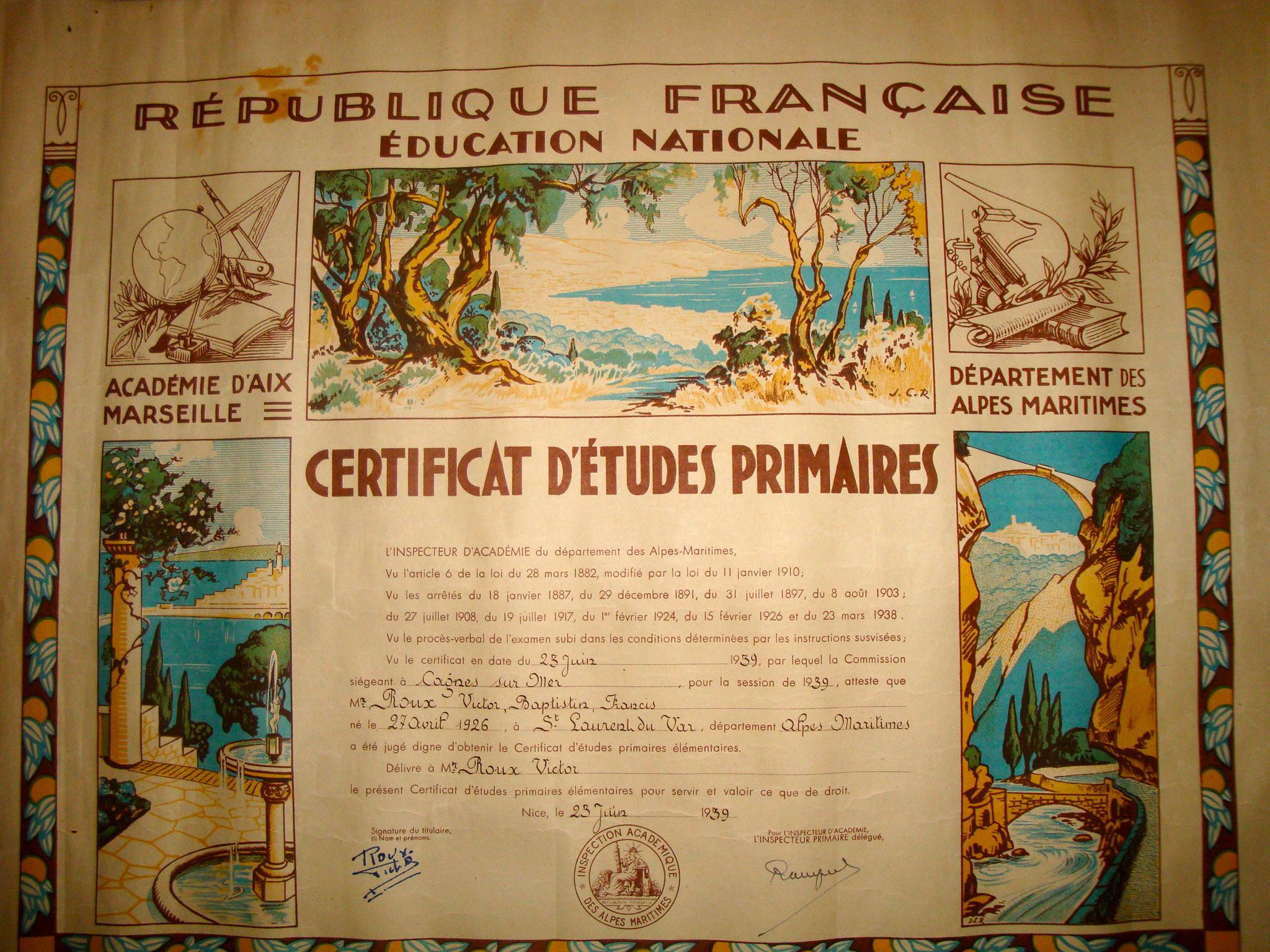 Certificat d'études primaire