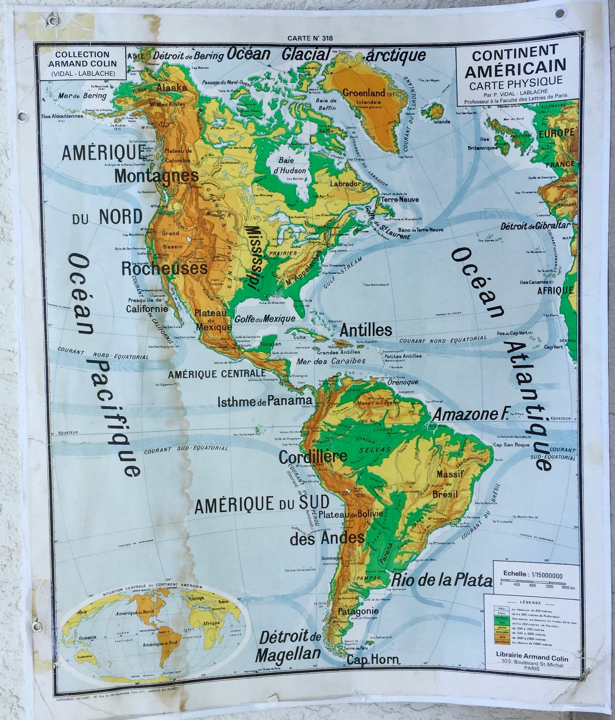 Carte scolaire Amérique