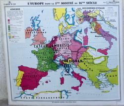 Carte Europe du 16eme