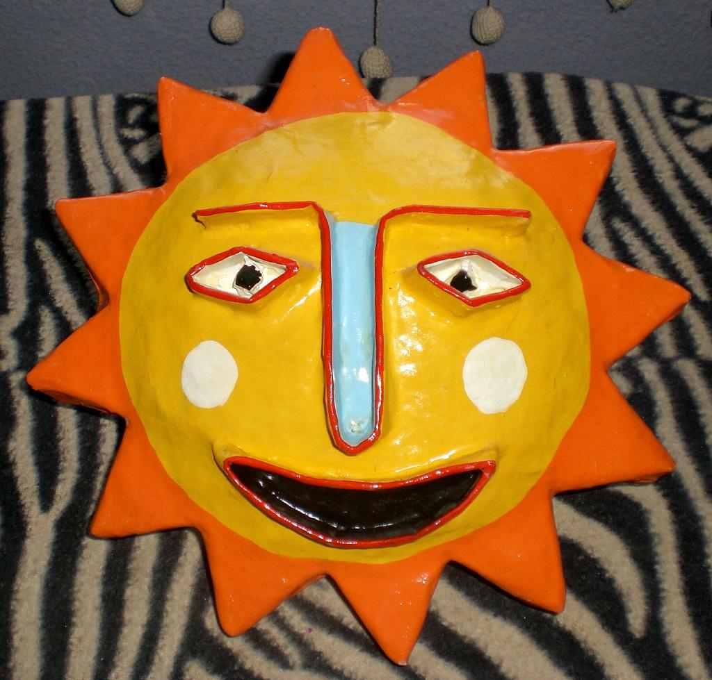 Tableau sculpture Soleil