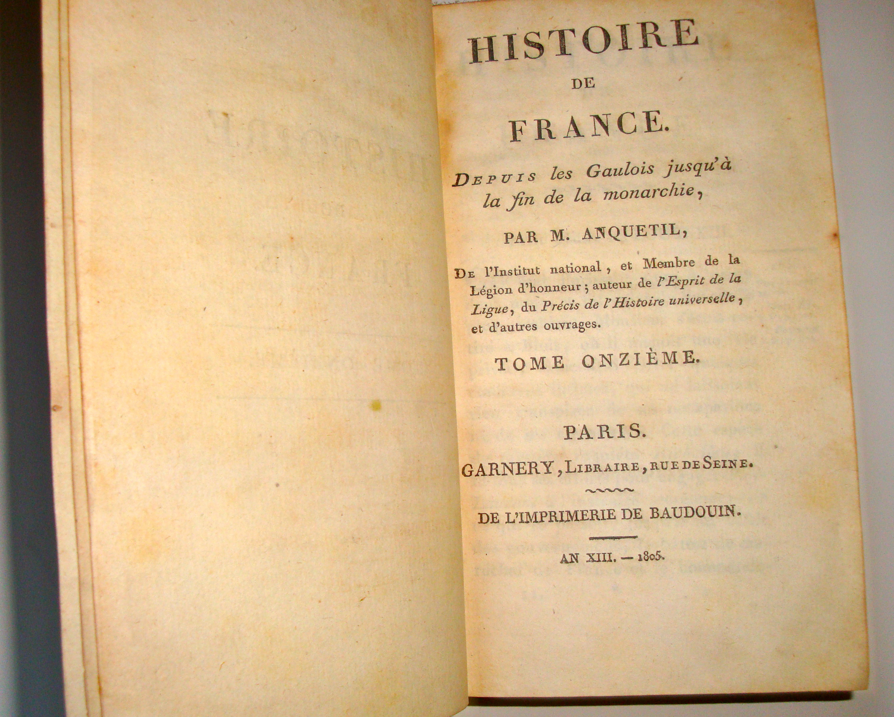 Livre histoire ancienne Anquetil