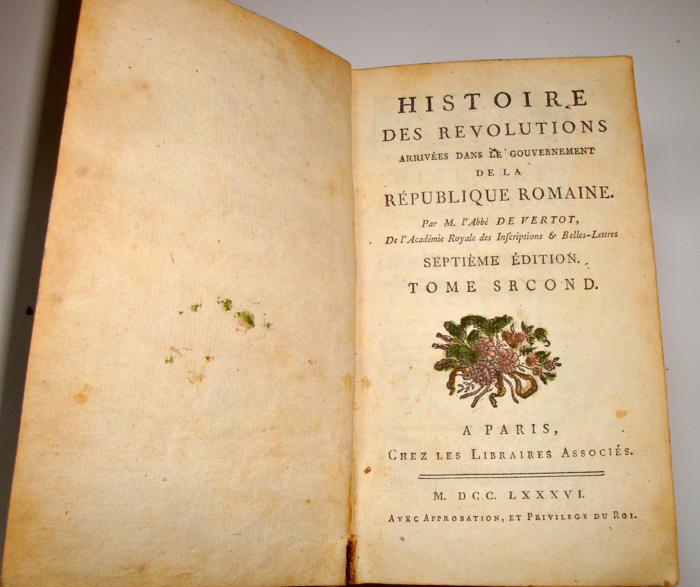 Livre Histoire des révolutions