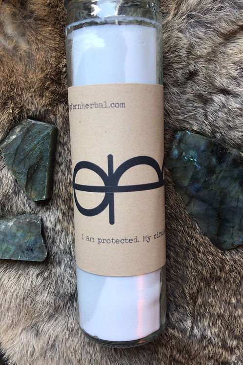 """""""I am Protected. My circle is strong"""" Ritual Candle"""