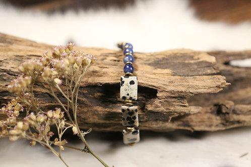 Dalmatian Jasper & Sodalite Stretch Bracelet
