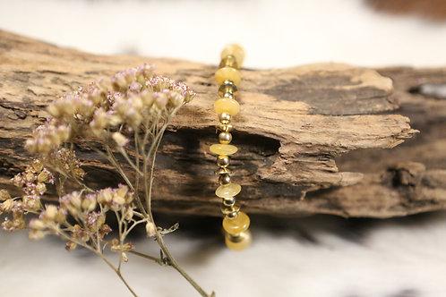 Honey Calcite Stretch Bracelet