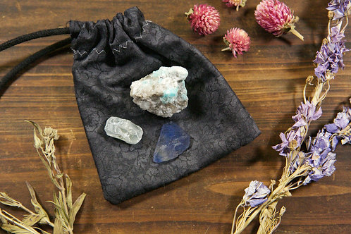 Throat Chakra Crystal Set | Trio of Throat Chakra Stones
