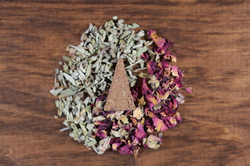 Rose & Sage Incense Cones