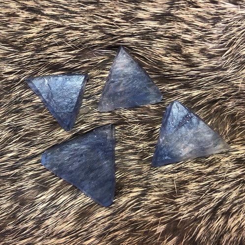 Raw Blue Fluorite Triangle