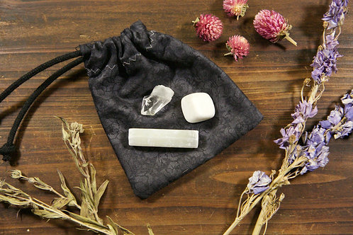 Crown Chakra Crystal Set | Trio of Crown Chakra Stones