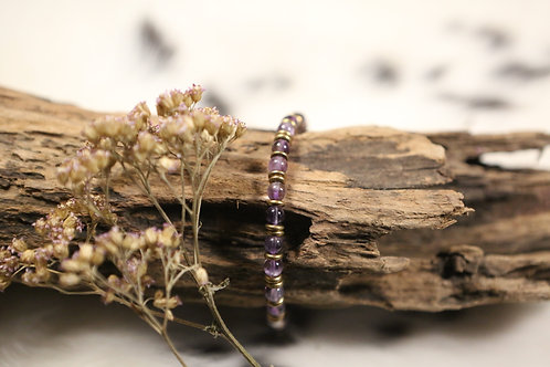 Amethyst Stretch Bracelet