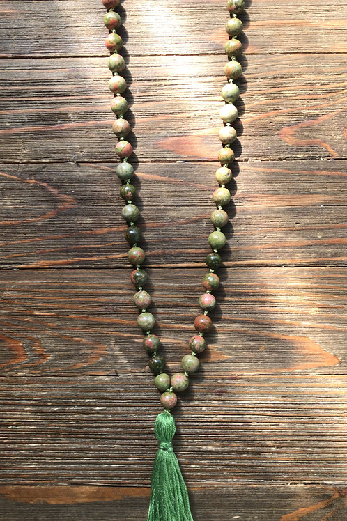 Unakite Meditation Beads