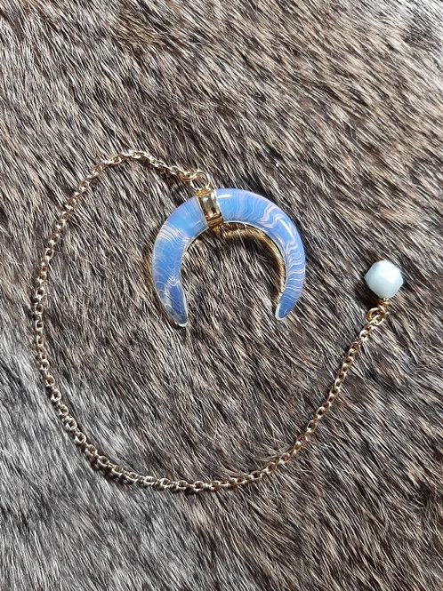 Opalite Crescent Pendulum