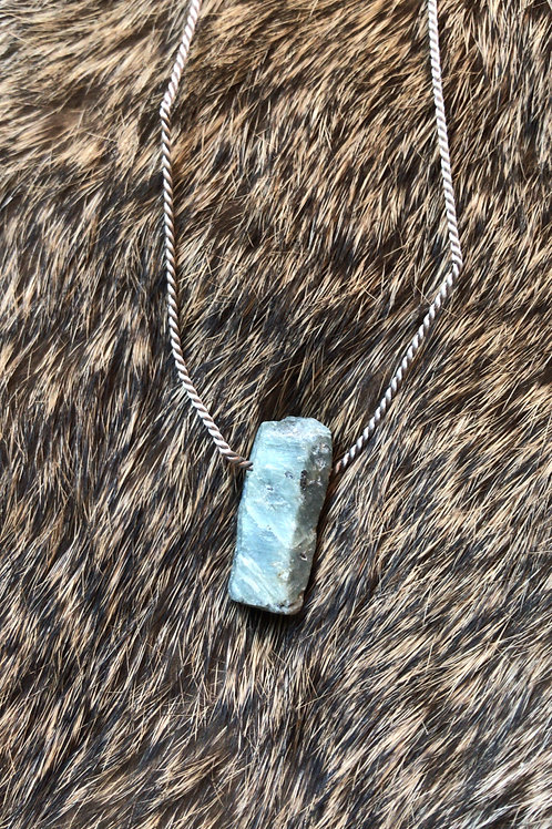 Raw Sapphire Necklace