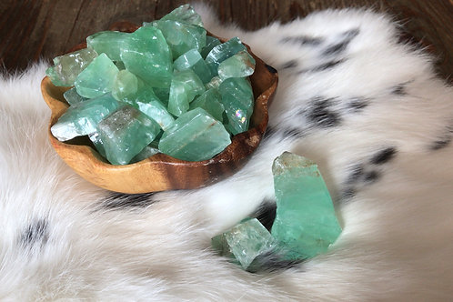 Green Calcite Chunk