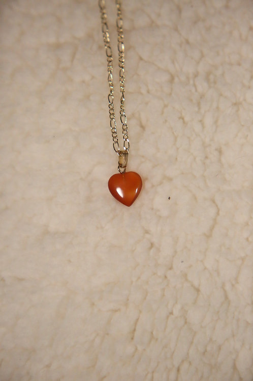 Carnelian Heart Necklace