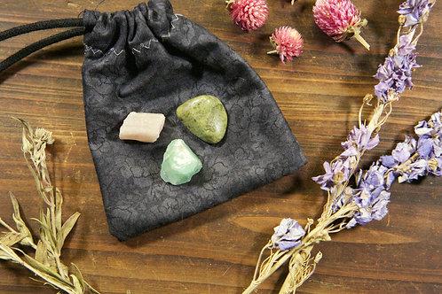 Heart Chakra Crystal Set | Trio of Heart Chakra Stones