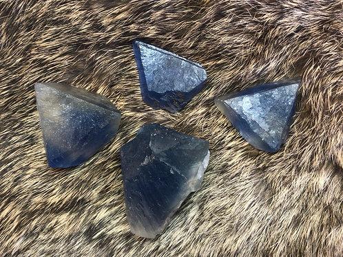 Raw Blue Fluorite Chunk