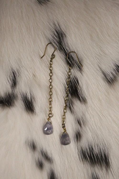 Iolite Dangle Earrings