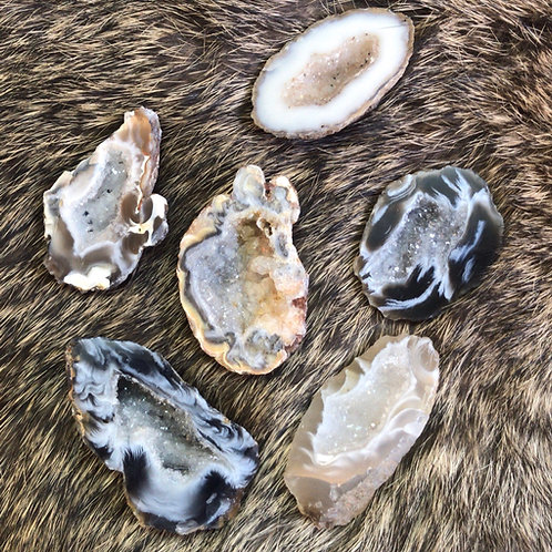 Agate Geode- 1/2 Pound