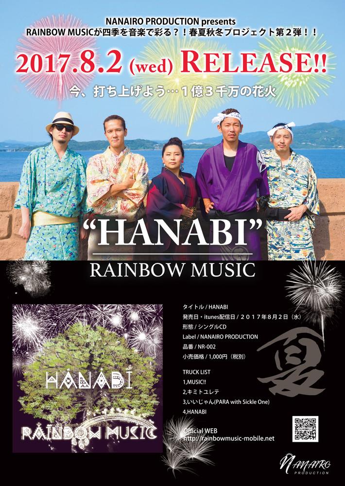 RAINBOW MUSIC春夏秋冬プロジェクト夏の陣ポスター