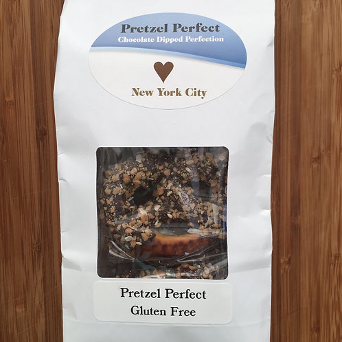 Gluten-Free Bag of a Dozen Delicious 3 Ring Pretzels w/ Chocolate and Toppings!