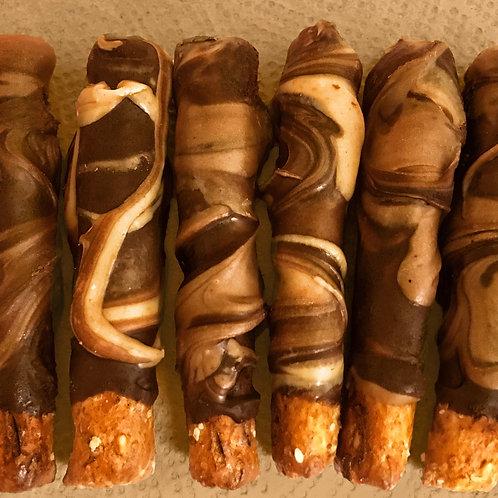2 Quart Sized Boxes of 32 Yummy Peanut Butter Chocolate Swirls!