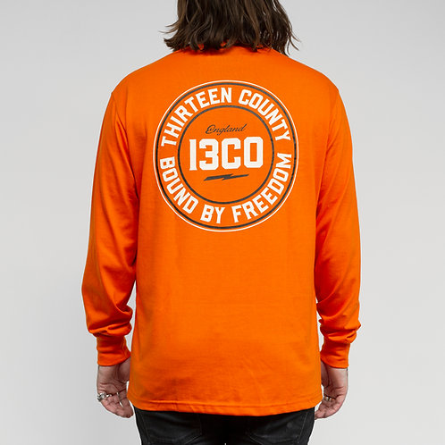 13CO ORANGE BOLD LONGSLEEVE