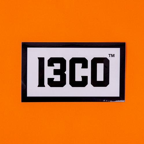 13CO BOX LOGO WHITE STICKER