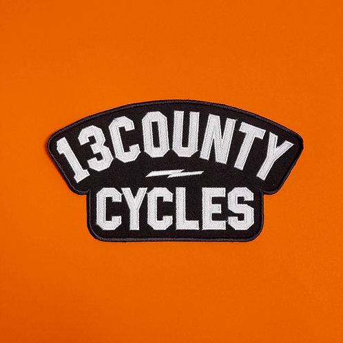 13COUNTY CYLCES 25cm PATCH