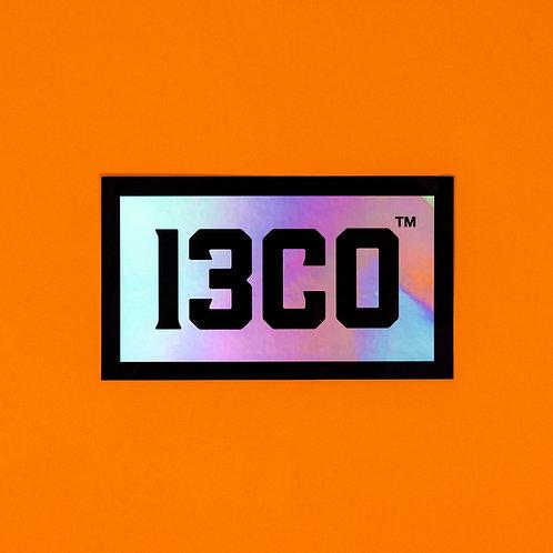 13CO BOX LOGO PETROL STICKER