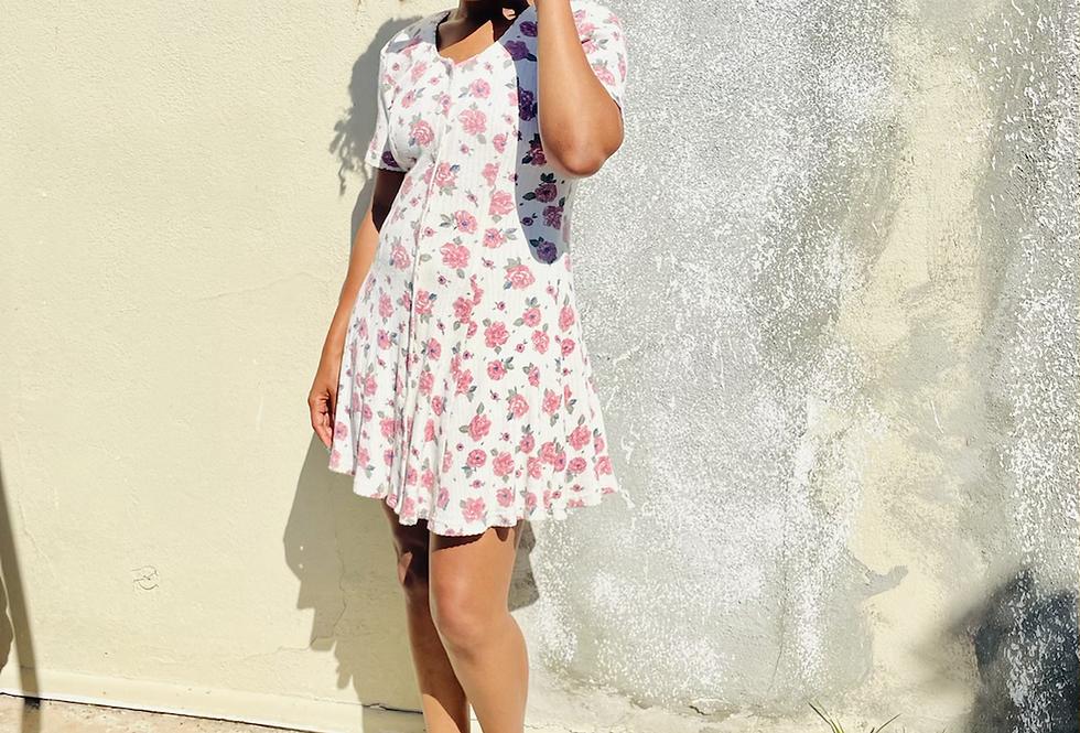 Classic Floral Vintage Dress