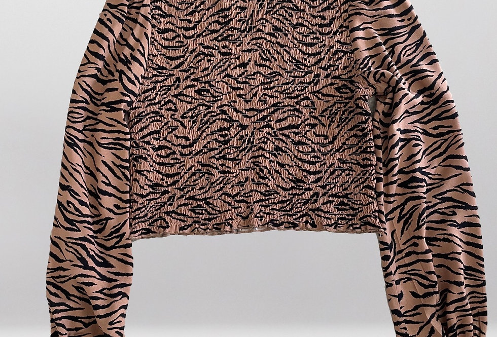 Tiger Ruched Blouse