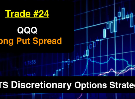 Options Trade #24  -  QQQ Long Put Spread