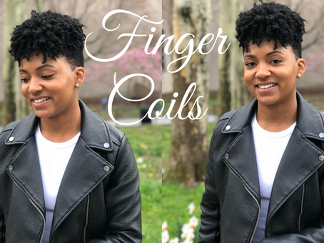 Finger Coils on Tapered Natural Hair