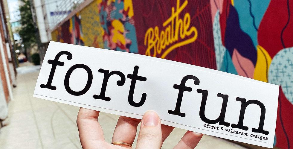 Fort Fun Banner Sticker