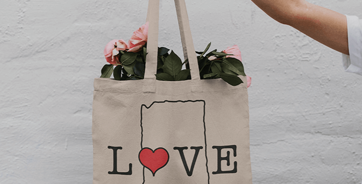 In a State of Love Tote