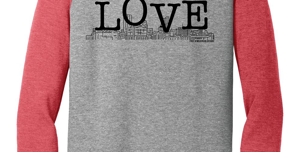 Love Your Town 3/4 Sleeve Tee