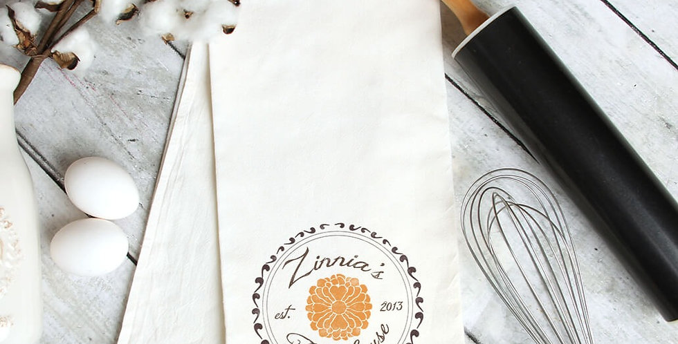 Vintage Zinnia Kitchen Towel