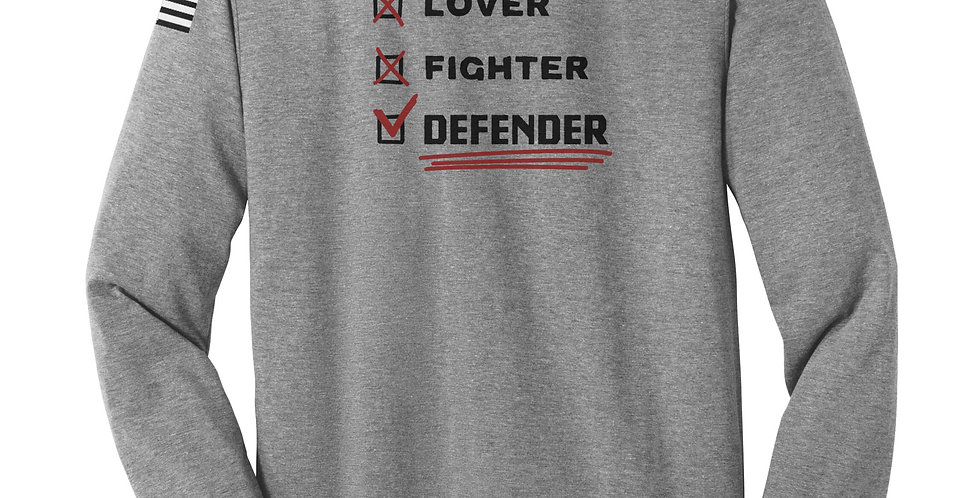 Lover, Fighter, Defender Unisex Long Sleeve Tee