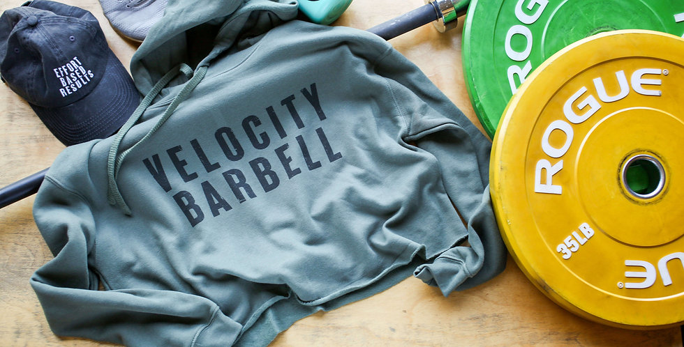 Velocity Barbell Crop Hoodie