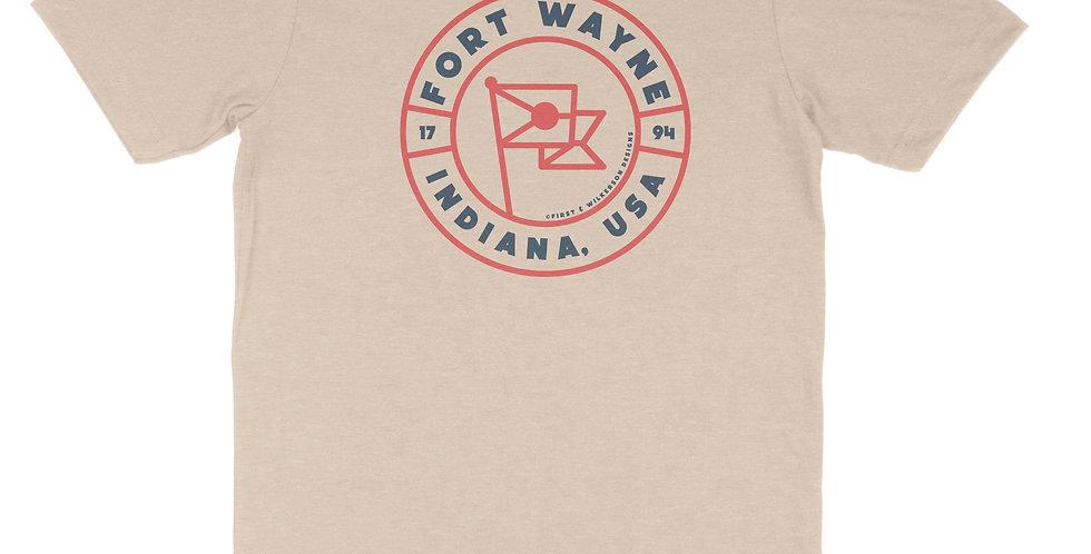 Fort Wayne Flag Badge Unisex Tee